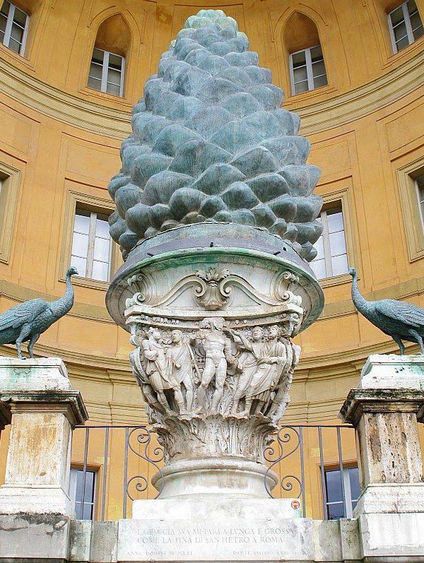 vatican museums: pine cone